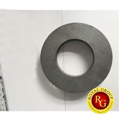 Nam châm ferrite đen 100x20 lỗ 40mm