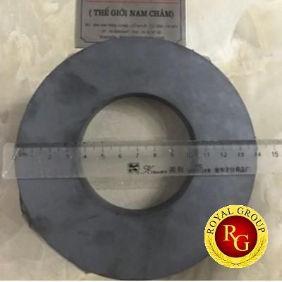 Nam châm ferrite có lỗ 140x18 lỗ 70mm