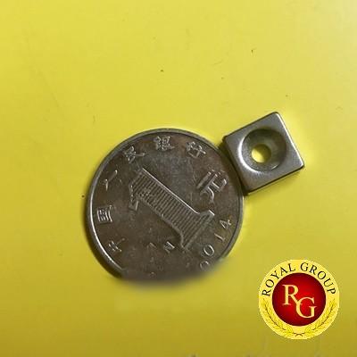 Nam châm viên 10x10x4 lỗ 4 mm